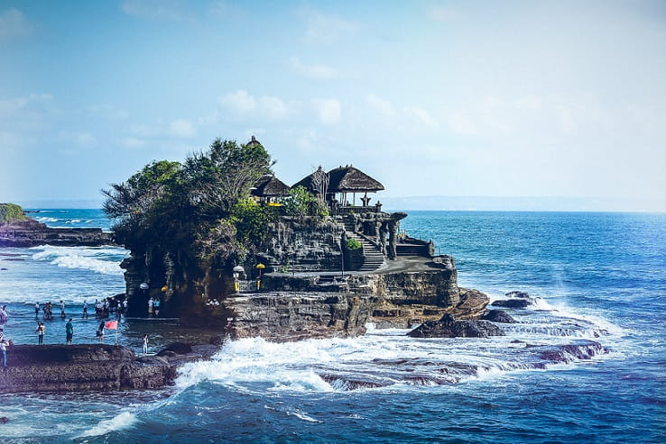 Tanah Lot Tourism Place in Bali