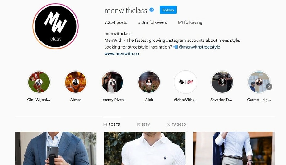 Men with class instagram