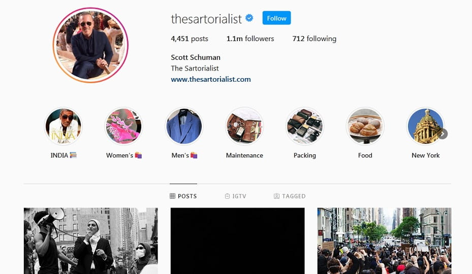 the sartorialist instagram