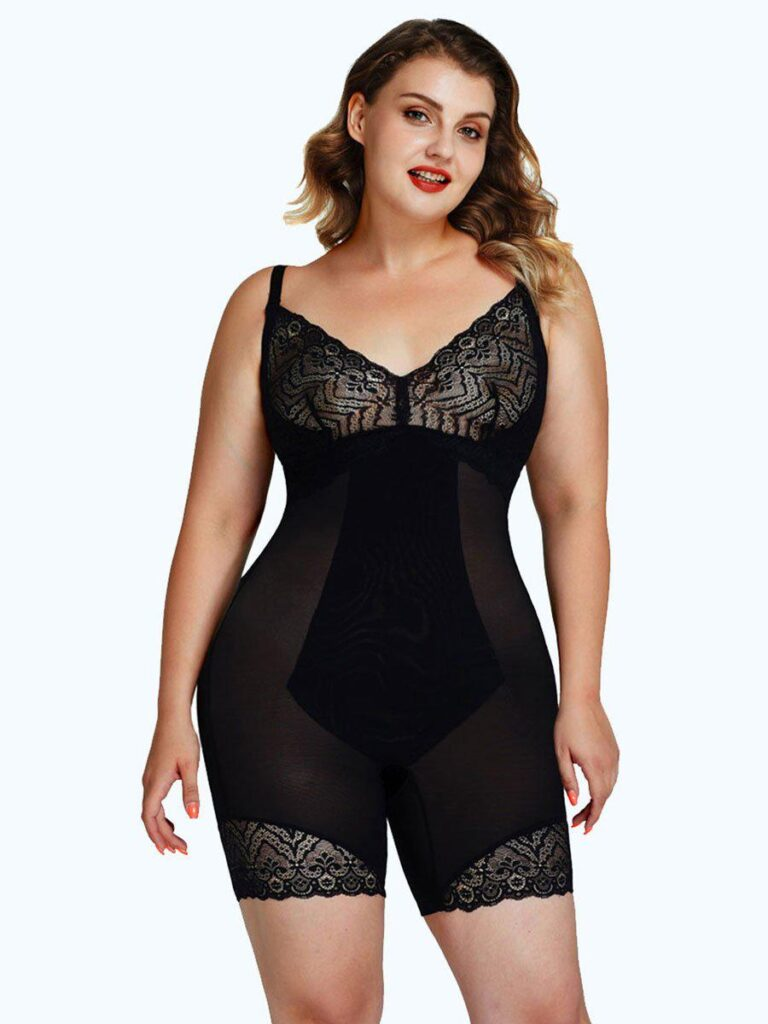 AirSlim™ Backless Lace Smooth Bodysuit Shaper